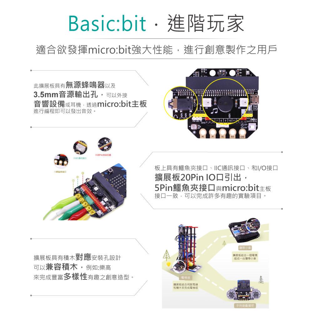 堃喬 堃邑 BBC MICROBIT 臥式 GPIO 擴展板 微型電腦 開發板 青少年 生活科技 STEM 藍芽 口袋晶片