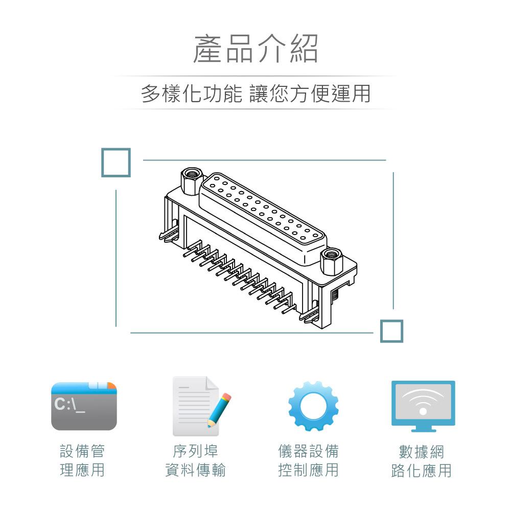 堃喬 堃邑 連接部品  PCB連接器 D型接頭 DB25連接器 DB25 25P D型母接頭 90°插板式+銅柱