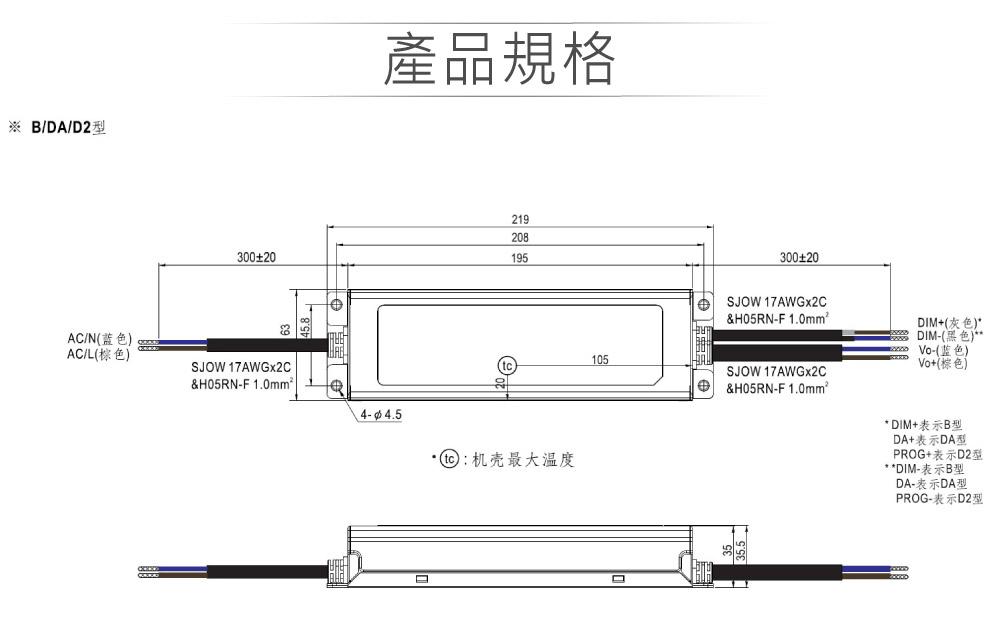 堃喬 堃邑  電源供應 LED 電源供應器  PFC型ELG恆壓恆流 MW明緯 72~143V/1050mA ELG-150-C1050B LED 照明專用 恆流型 三合一調光 電源變壓器 IP67