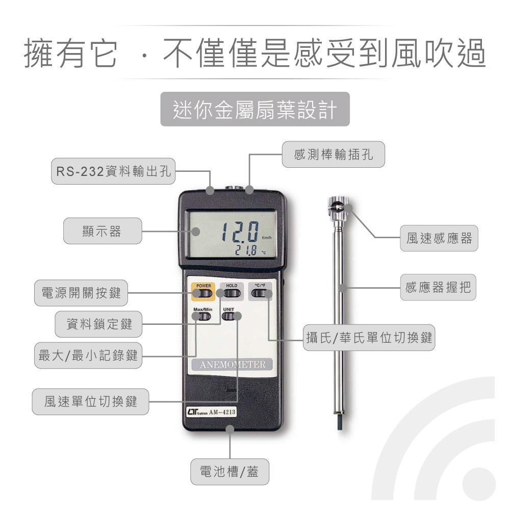 堃喬 堃邑 路昌 風速 風量 溫度 數位式 風速計 溫度計 溫濕度計 風量 Lutron AM-4213