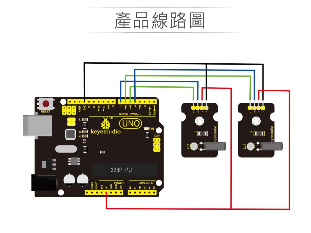 堃喬 堃邑 學校專區 品牌感測模組 魔術光杯模組 支援Arduino、micro:bit、Raspberry Pi等開發工具 適合中小學 課綱 生活科技 Keyestudio KS0030