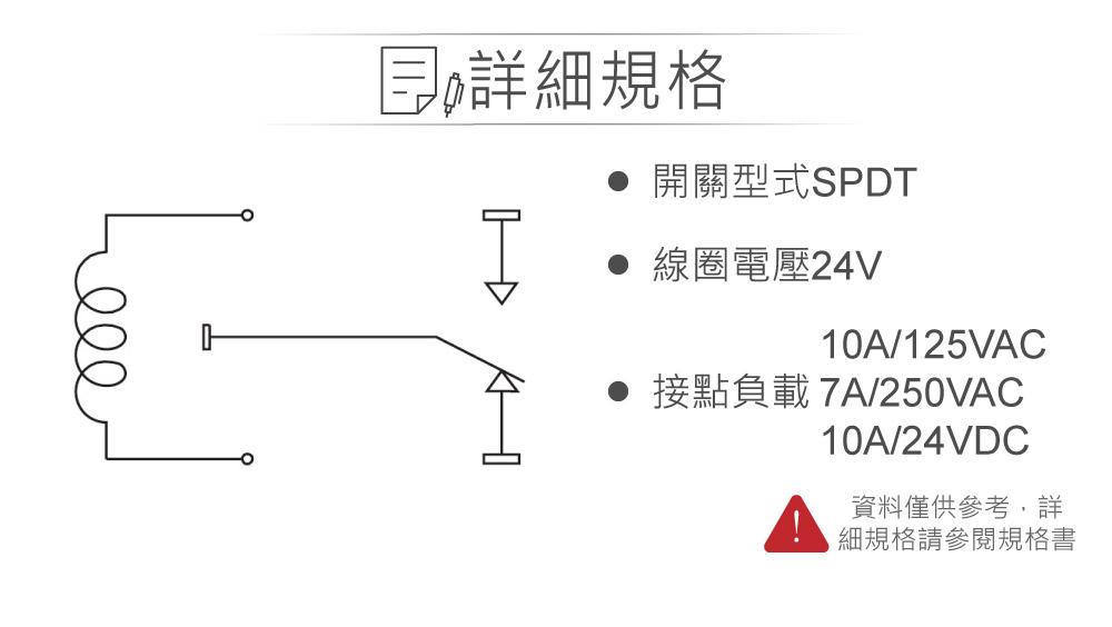 堃喬 堃邑  電子零件 繼電器 功率繼電器 功率繼電器 DC24V RAS-2410 接點負載10A/125VAC